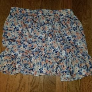 Multicolored floral skirt